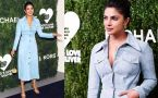Priyanka Chopra's Michael Kors blue suede dress is just Awesome!