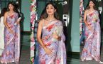 Shilpa Shetty looks stunning in Pink Printed Saree at Arpita Khan's Diwali Party; Watch