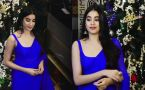 Jhanvi Kapoor looks GORGEOUS in blue Saree at Rising Star award function; Watch Video
