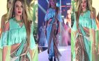 Rakhi Sawant dazzles in fusion Saree on Ramp as Showstopper; Watch video