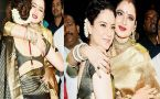 Kangana Ranaut & Rekha SHINE in Kanjivaram Saree at Marathi Award Show; Watch video
