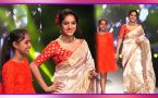 Deepika Singh walks the ramp for Smile Foundation in Saree