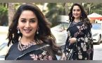 Madhuri Dixit looks GORGEOUS in Black Saree at Kalank Teaser launch; Watch Video