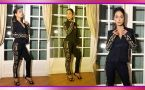 Hina Khan looks glamorous in Black Golden stripes Pantsuit: Check Out Here