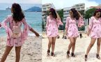 Hina Khan looks beautiful in pink short dress; Check Out