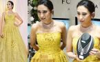 Karisma Kapoor stuns in yellow gown at launch; Watch video
