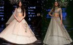 Ananya Panday stuns in shiny golden lehenga at Lakme Fashion Week 2019