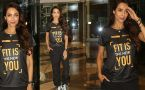 Malaika Arora spotted in T-Shirt during event in Mumbai; Watch Video