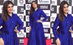 Raveena Tandon Looks Gorgeous in blue Gown at event; Watch Video