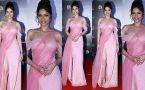 Ankita Lokhande Looks Georgeous in Pink Gown at  Filmfare Glamour and Style Awards