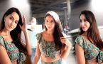 Nora Fatehi Looks Glamorous at Airport