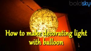Diwali Decoration: घर पर बनाएं ये खूबसूरत | Light Lamp | DIY | How to make decorating light