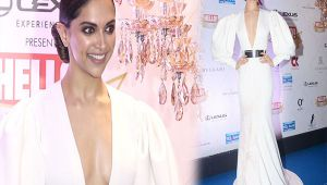 Deepika Padukone looks STUNNING in Falguni and Shane Peacock gown; Watch Video