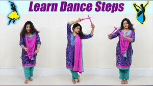 Dandiya के  Basic Steps| learn easy Dandiya steps for beginners