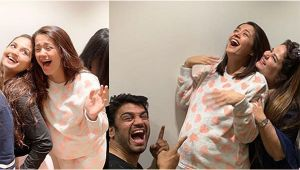 Surveen Chawla enjoys pyjama themed Baby Shower with friends
