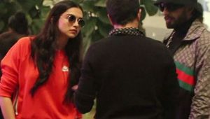 Deepika Padukone & Ranveer Singh spotted in orange track suit at Airport