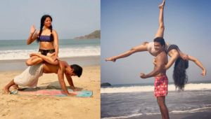 Kavita Kaushik shares her Yoga pictures with Husband; Check Out