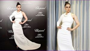 Kangana Ranaut look stunning in White gown at Cannes Film Festival