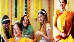 Sameera Reddy's baby shower picture goes viral; Check Out