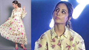Hina Khan makes grand entry in floral midi dress at event; Watch video