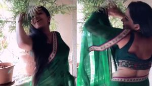 Monalisa is back with her killer dance moves in saree ; Check out video