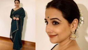Vidya Balan looks beautiful in green Saree & Gajra at Mission Mangal event;Watch video