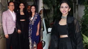 Rakul Preet Singh looks beautiful in black dress; Check Out