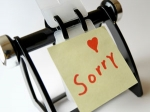 Saying Sorry Reasons