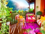 Decorate Balcony With Accessories In Summer