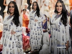 Shraddha Kapoor In Anarkali Suit Rohit Bal Showstopper