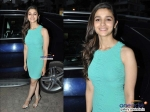 Alia Bhatt In Little Blue Dress 2 States Promotions