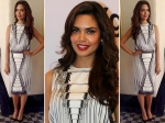 Esha Gupta In Peter Pilotto Black Dress