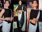 Sonam Kapoor In A Threaded Rimzim Dadu Saree
