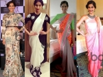 Sonam Kapoor In Indian Designer Sarees