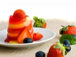 Colourful Mixed Fruit Pudding Dinner Treat