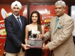 Unveiling Of Kingfisher Derby Trophy 2014