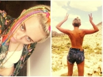 Miley Cyrus Poses Topless For Fans In Desert