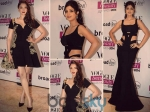 Shilpa & Aditi In Black Dresses Fresh From Ramp