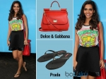 Esha Gupta Gets Causal With Prada Slippers
