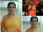 Madhuri Dixit Goes Orange In Tarun Tahiliani Saree