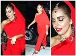 Lady Gaga Blushes In Red As Indian Bride