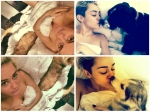 Miley Cyrus Takes Naked Selfies With Dogs