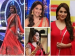 Madhuri Dixit In Red Suit Or Red Saree