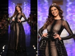 Lfw 2014 Sushmita Sen In Sheer Black Gown