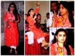 Rani Mukerji Sparkles In Ornage Kurta