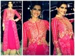 Sonam Kapoor Looks Perfect In Pink Lehenga