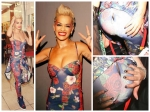 Floral Ripped Seam Makes Rita Ora Embarassed