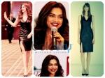 Deepika Padukone In Leather Zara Dress