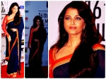 Aishwarya Rai In Blue Sabyasachi Saree