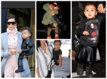 Baby North West In Fashionable Outfits